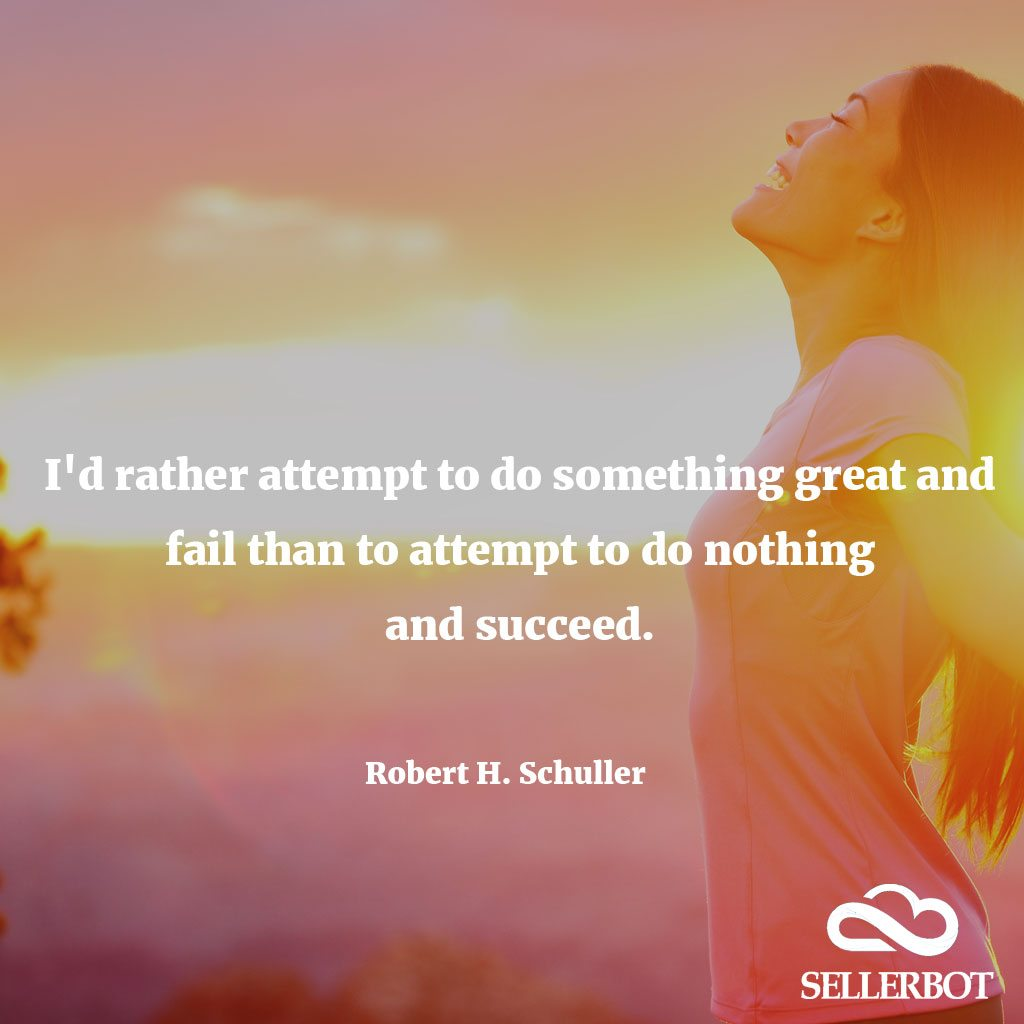 Id rather attempt to do something great